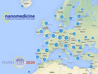 This Map is now officially released from the ETPN and partners of the NANOMED2020 research project