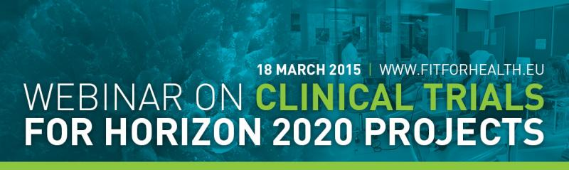 Webinar on Clinical trials in H2020