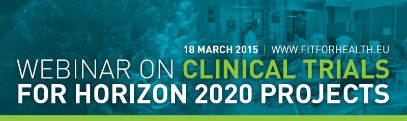 Webinar on Clinical trials in H2020